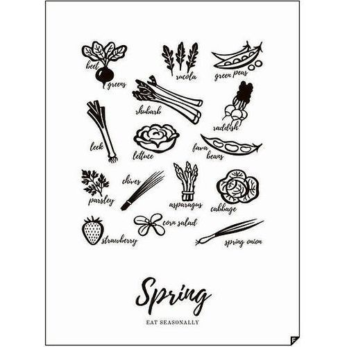 Plakat spring - eat seasonally 21 x 30 cm marki Follygraph