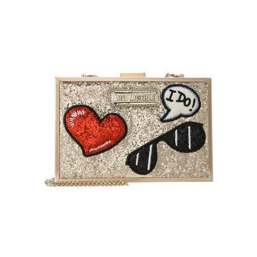 Love Moschino GLITTER PATCHES BOXBAG Kopertówka oro, JC4151PP15LL0