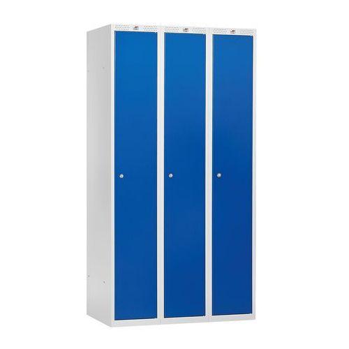 Szafa ubraniowa CLASSIC, 3 moduły, 1740x1200x550 mm, niebieski, 315402