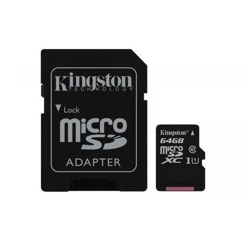 Karta pamięci microsdxc canvas select 64gb uhs-i class 10 + adapter marki Kingston