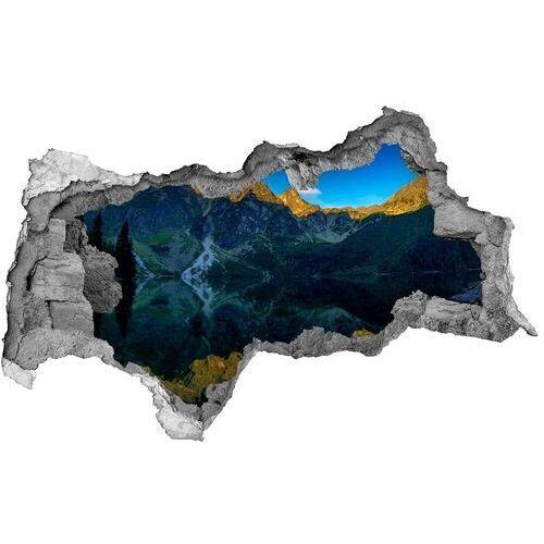 Dziura 3d w ścianie naklejka cegła Tatry