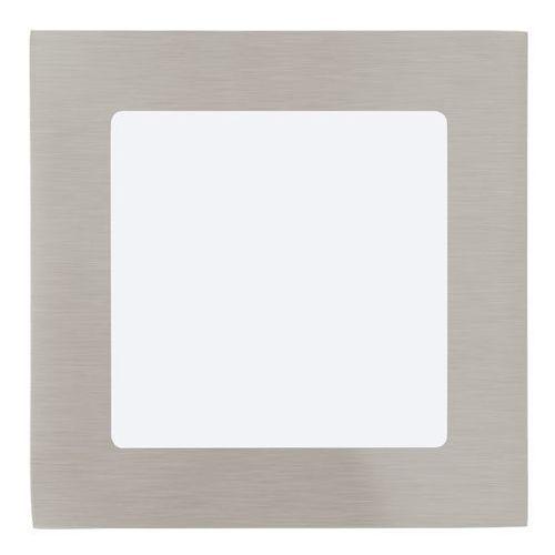 Eglo Plafon lampa sufitowa oprawa downlight oczko fueva 1 1x5,5w led nikiel mat / biały kwadr.95276