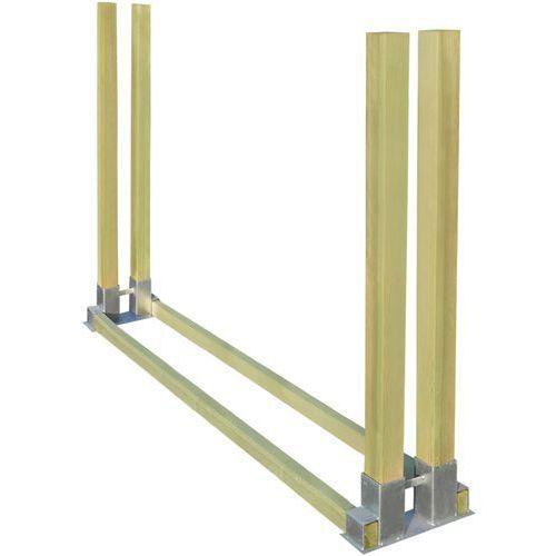 vidaXL Stojak na drewno kominkowe 2000x340x1250 mm ()