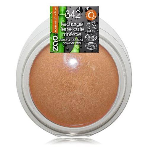Puder brązujący zao - wkład - 342 - brązowo-miedziany marki Zao - make up organic