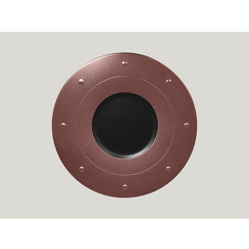 Rak Talerz płaski zdobiony 310 mm, brązowy | , metalfusion