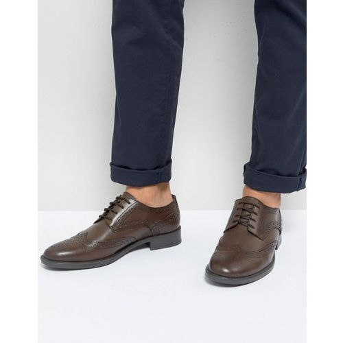 brogues in brown leather - brown, Frank wright