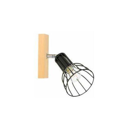 megan wood 2344160 kinkiet lampa ścienna 1x40w e14 drewno/czarny marki Spot light