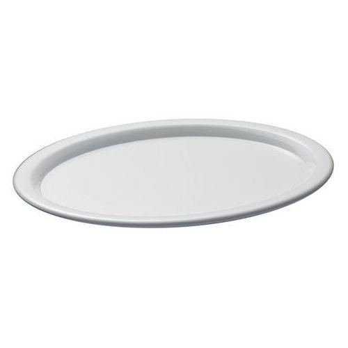 Taca owalna z melaminy do serwowania kawy | biała | różne wymiary