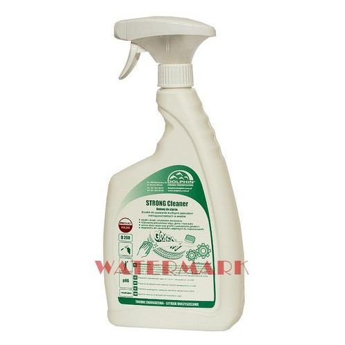 Strong cleaner na ślady po kleju, gumie, tuszu 0,75l do wszelkich silnych zabrudzeń marki Dolphin