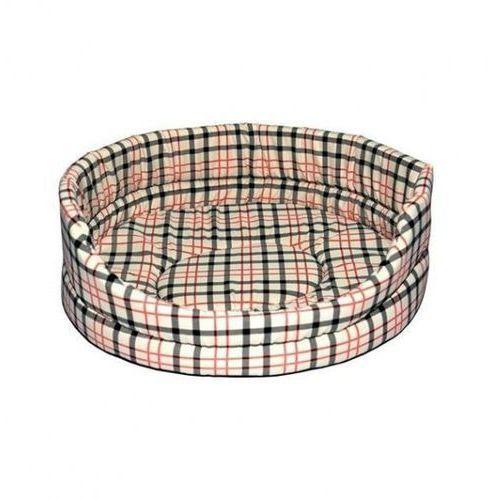 Chaba legowisko standard z poduszką beżowa kratka [rozmiar 1] 36 x 29 x 13cm (5905133623674)