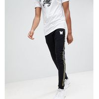 tall skinny joggers in black with side stripes - black marki Good for nothing