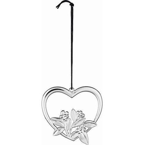 Dekoracja choinkowa karen blixen heart flower 6,5 cm srebrna marki Rosendahl