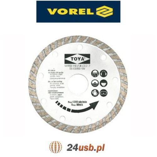 Vorel Tarcza diamentowa 230 mm, segment turbo 08755 - zyskaj rabat 30 zł