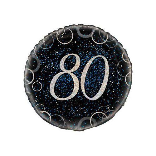 Balon foliowy błyszczący niebieski - 80tka - 47 cm - 1 szt.