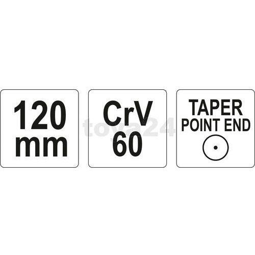 Dobijak punktak - 120mm Yato YT-4692 - ZYSKAJ RABAT 30 ZŁ (5906083946929)