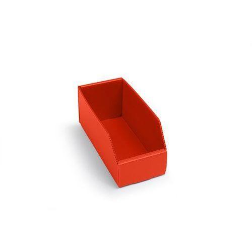 K bins limited Skrzynki regałowe z tworzywa, składane, dł. x szer. x wys. 225x100x100 mm, czerw