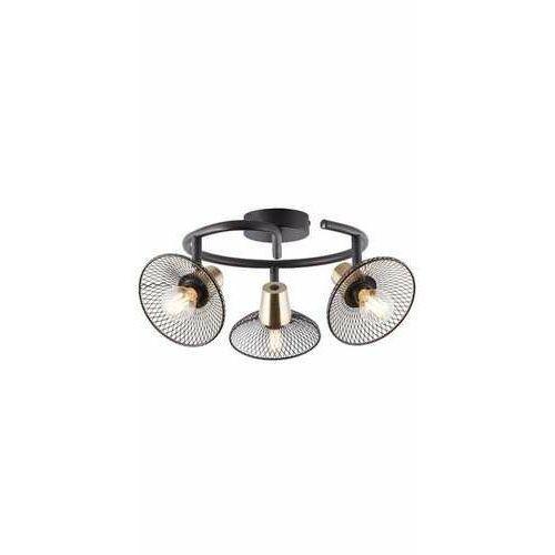 Brilliant Gordon 97198/72 plafon lampa sufitowa 3x40W E14 czarna, kolor Czarny