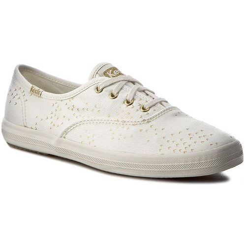 Tenisówki - ch mini bird wf56420 cream/gold marki Keds