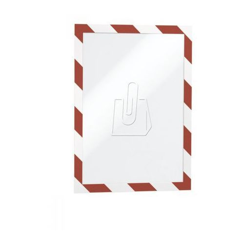 Ramka samoprzylepna duraframe security a4 czerwono-biała 2 sztuki 4944-132, marki Durable