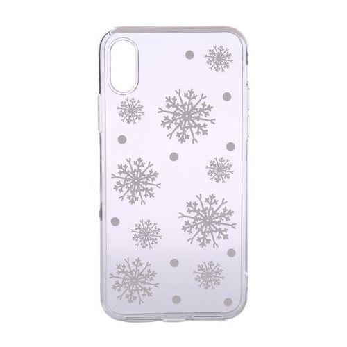 Epico elastyczna plastikowa osłona dla iphone x/iphone xs białe płatki śniegu