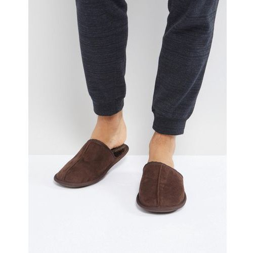 River Island Mule Slipper In Dark Brown - Brown