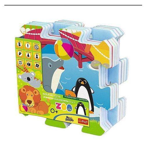 Trefl Edukacyjna układanka-puzzlopianka 5w1 - zoo