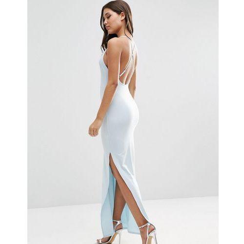 Halter Strappy Back Maxi Dress - Blue marki ASOS