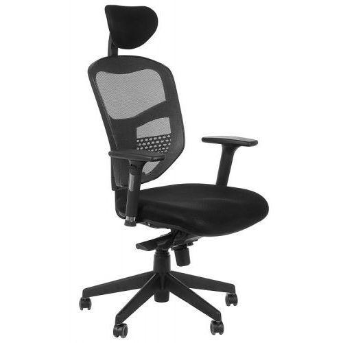 Fotel biurowy gabinetowy z wysuwem siedziska HN-5038/SZARY krzesło biurowe obrotowe