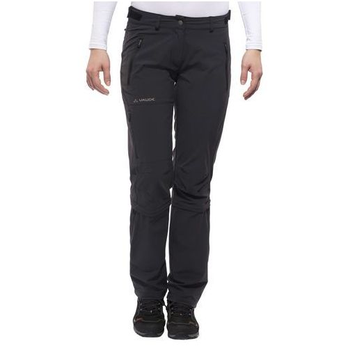 VAUDE Farley II Stretch Spodnie długie Kobiety czarny 34 - krótkie 2018 Spodnie z odpinanymi nogawkami, kolor czarny