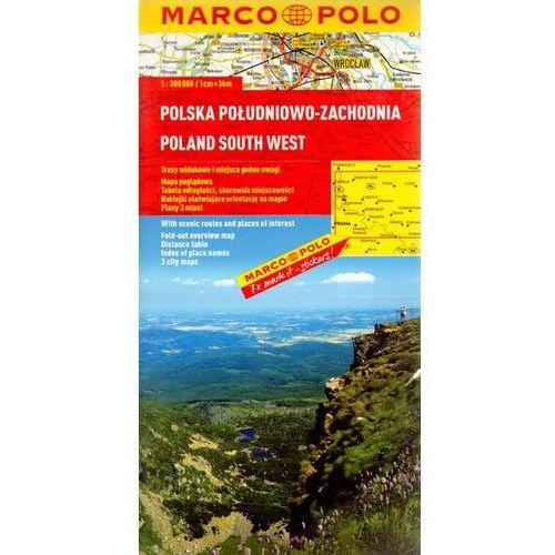 Polska Południowo-Zachodnia. Mapa Marco Polo 1:300 000, oprawa broszurowa