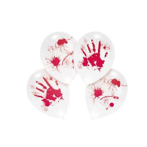 Balony led z krwawym nadrukiem - 28 cm - 4 szt. marki Amscan