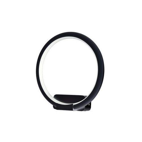 Kinkiet lampa ścienna orion ml506 oprawa okrągła led 10w pierścień ring czarny marki Milagro