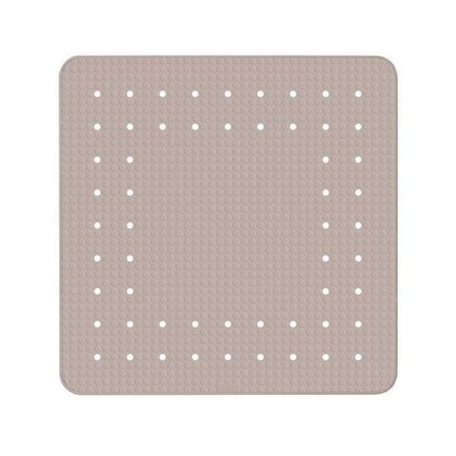 Funkcjonalna mata prysznicowa mirasol, kauczuk, antypoślizgowa, beżowa, przyssawki do mocowania, wymiary 54x54 cm, marka marki Wenko