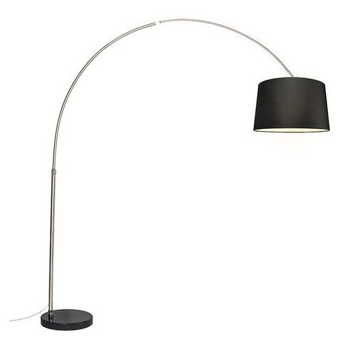 Lampa podlogowa luk XXL stal klosz 50cm czarny z kategorii Lampy stojące