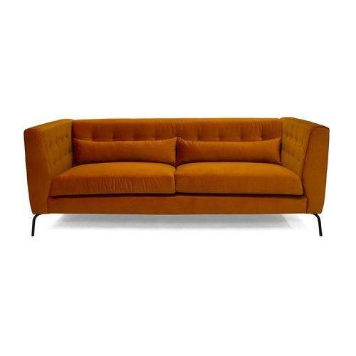 Sofa 3-osobowa siena pomarańczowa marki 9design