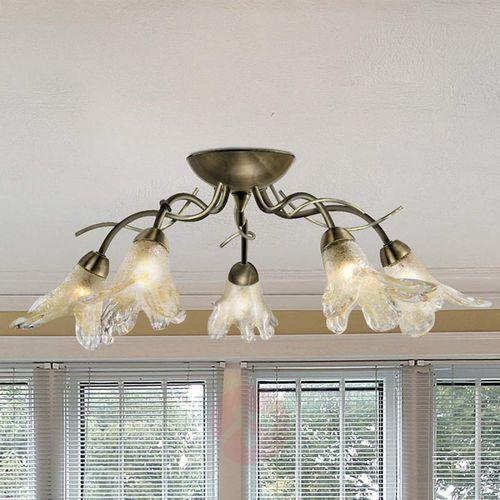 Searchlight Szlachetna korona sufitowa lily, mosiądz