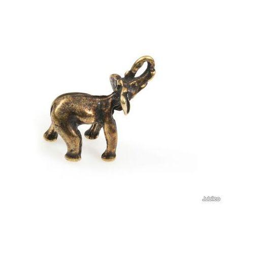 Jubileo.pl Figurka słonik na szczęście talizmany słoń kolor stare złoto zwierzęta