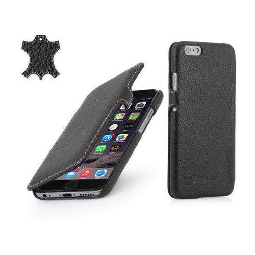 Stilgut Skórzane etui z klapką  book case - czarne (skóra karbowana) - iphone 6 4.7