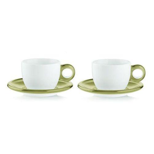 Guzzini - gocce - kpl. 2 filiżanek do cappuccino, piaskowe (8008392266945)