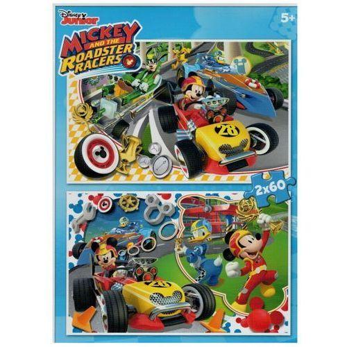 Puzzle 2x60 Myszka Miki i wyścigi samochodowe, AM_8005125071302