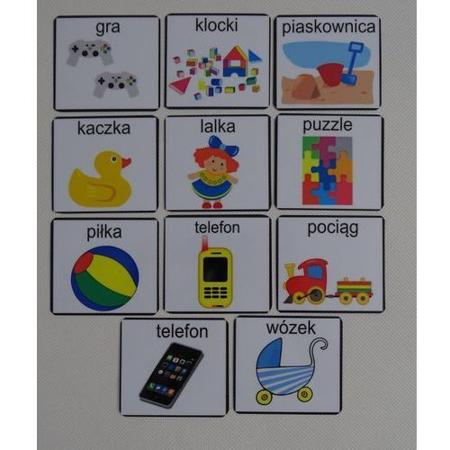 Bystra sowa Zabawki - piktogramy
