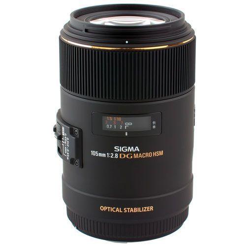 Obiektyw 105mm f2.8 apo ex dg os hsm macro mocowanie nikon marki Sigma