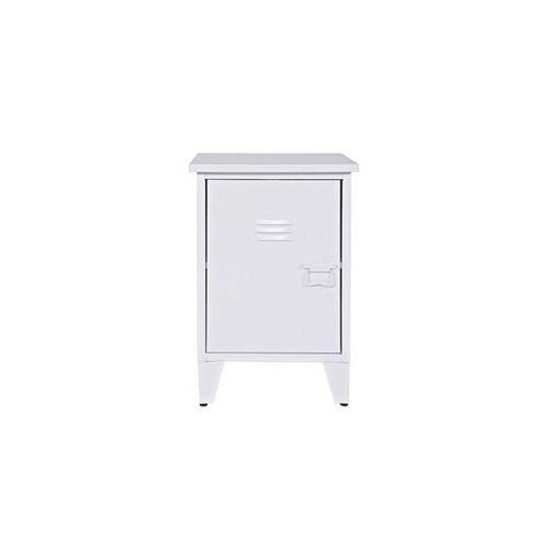 Woood :: industrialna szafka nocna max lewa biała - biała lewa