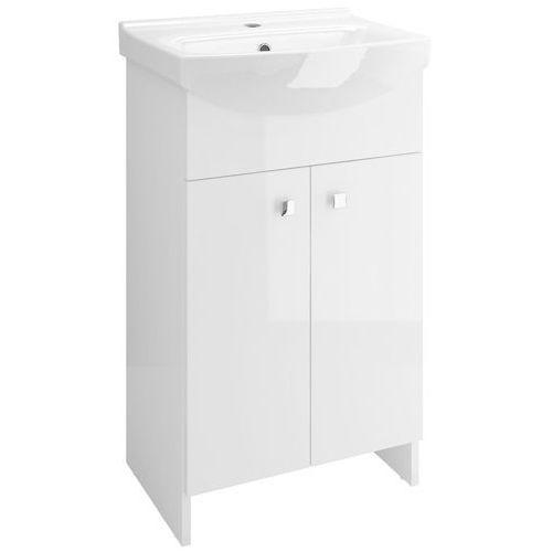 sati zestaw: szafka + umywalka cersania 50 cm, kolor biały połysk s567-002-dsm marki Cersanit