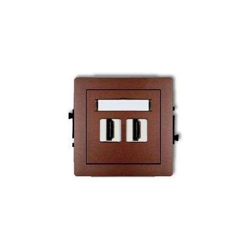 Gniazdo podwójne HDMI 9DHDMI-2, grafitowy KARLIK DECO, 9DHDMI-2/KRL