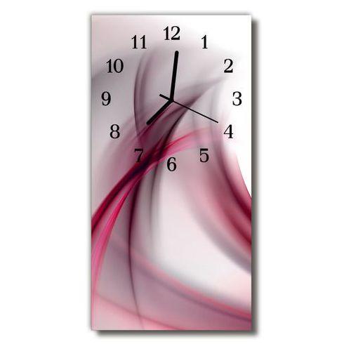Zegar Szklany Pionowy Sztuka Abstrakcja linie purpurowy, kolor fioletowy