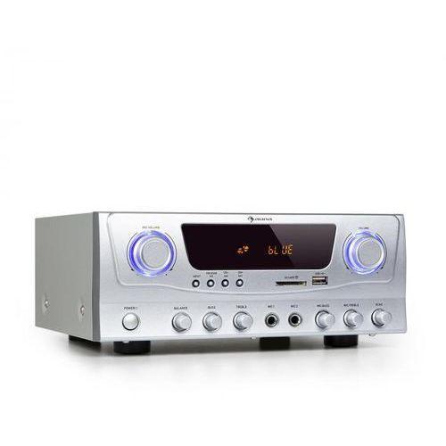 Auna Amp-2 BT, HiFi wzmacniacz, RMS 2 x 50 W, BT, USB, SD, 2 x mikrofonowe wejście, FM tuner radiowy (4060656156151)
