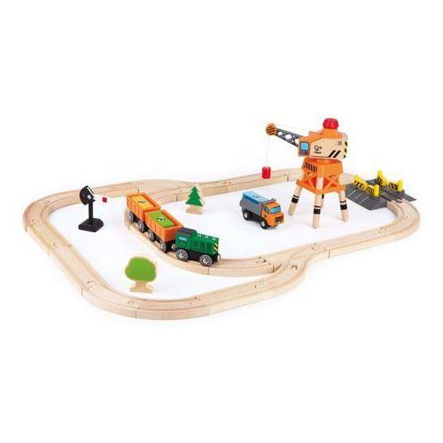 Hape zestaw zabawkowy z dźwigiem i pociągiem towarowym, e3722 (6943478018334)