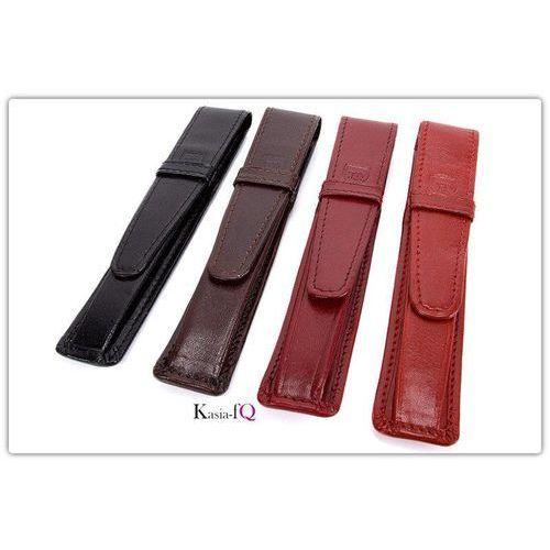 Etui na pióro naturalna skóra licowa w 4 kolorach, marki Elbląski przemysł skórzany
