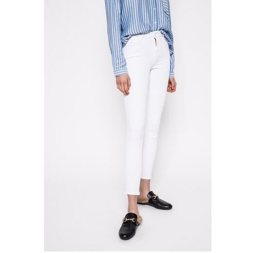 Wrangler - Jeansy Crop White